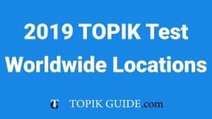 TOPIK 2019 Locations outside Korea